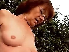 Oldie gets poked outdoors