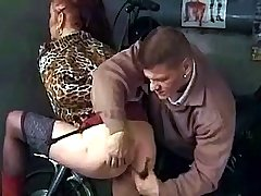 Young guy gives old slut some licking and cunt massage
