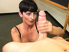 MILF Ivy Reins Stripper Gives Handjob