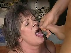 Old mature fucks in all holes n gets cum in mouth