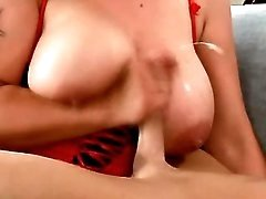 Beautiful milf gets cum on melons